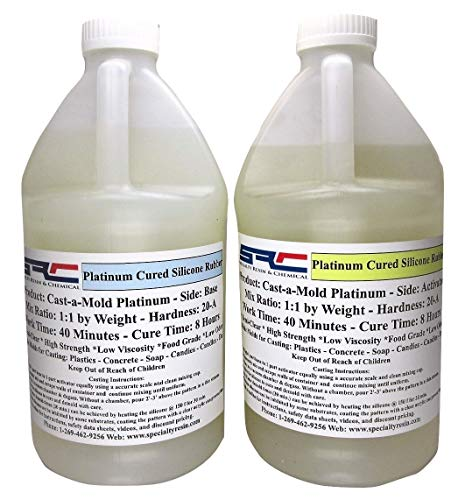 RTV Silicone Rubber for Mold Making - Food Grade - 1:1 Mix Ratio (1 Gallon)