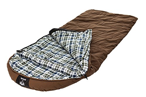 (Grizzly +25 Degree Canvas Sleeping Bag (Light Brown))
