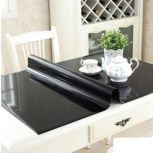 Pvc table cloth/transparent,[soft glass],crystal plate,rectangle,[waterproof], burn-proof,plastic table mats/free washing table mat/table mat -F 90x160cm(35x63inch) by KDHKDNVNIDLL