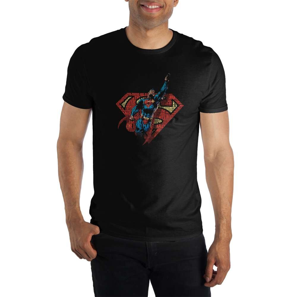 Superman S TAIL Licensed Adult Heather T-Shirt All Sizes