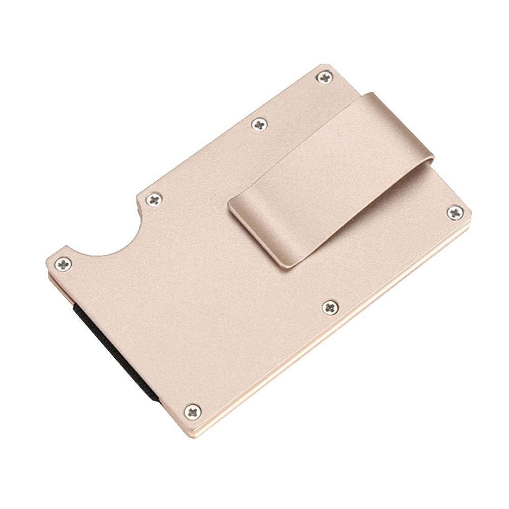 7fbf85a4ea33 Amazon.com  Carbon Fiber Metal Credit Card Holder RFID Wallet Blocking  Portable ID Case Men Aluminum Clip Cardholder Porte Carte  Kitchen   Dining