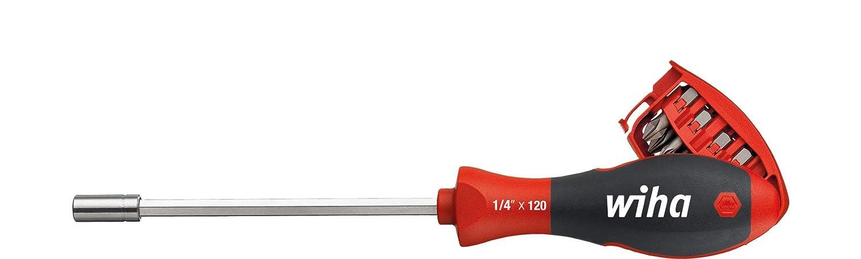 Wiha Schraubendreher mit Bit Magazin magnetisch gemischt mit 8 Bits, 1/4' in Blister (3809) 1/4 in Blister (3809)