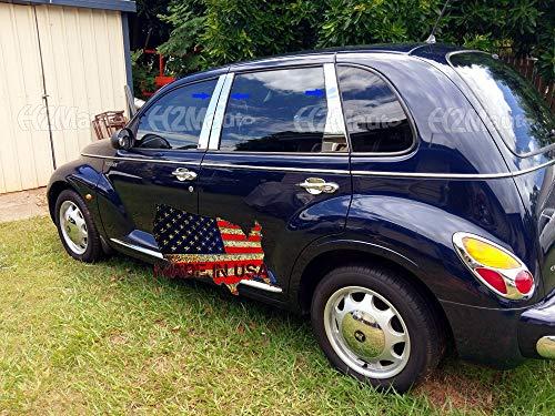H2Mauto fits 1999-2011 Chrysler PT Cruiser 6Pc Pillar Post Trim Cover 2000 2001 2002 2003 2004 2005 2006 2007 2008 2009 2010 ()