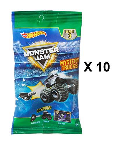 Hot Wheels Monster Jam Series 3 Mystery Trucks Blind Bag Party Favours - Pack of 10
