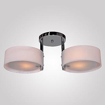 KJLARS Deckenleuchte Moderne Deckenlampe Mit 2 Flammig Deckenbeleuchtung  Flur Wohnzimmer Lampe Schlafzimmer Küche Wohnzimmer (