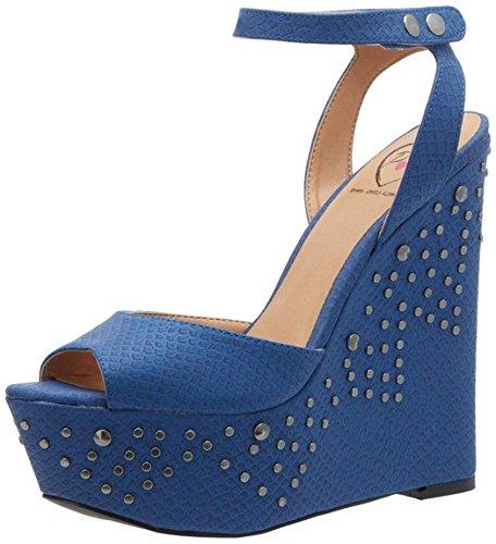 Penny Loves Kenny Ankle Strap Heels (Penny Loves Kenny Women's Felitcty Wedge Sandal,Blue,9 M US)