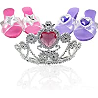 Smarterbuy Toys Little Princess Dress Up Tiara with Step In Shoes Fashion Beauty Set for Girls