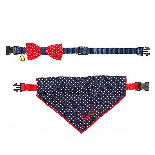 Ellen Degeneres bluee Red Cat Collar Set (XS-8'-12')