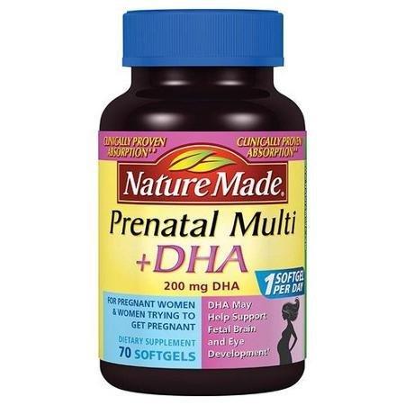 Nature Made Prenatal Multi + DHA Dietary Supplement Softgels