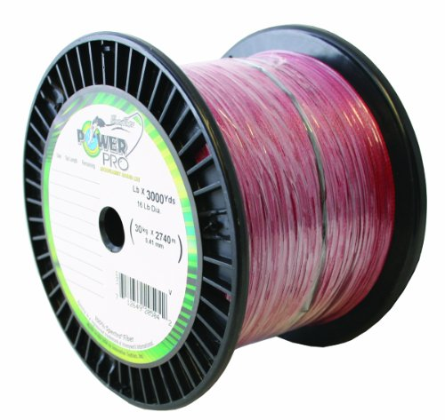 PowerPro Spectra with 40-Pound Test, 3,000-Yards, Vermillion Red Finish