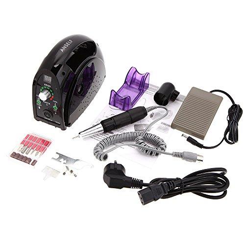 Anself Portable Salon Nail File Drill Glazing Manicure Machine Accessory Pedicure Kit Set 35,000RPM (Nails Machine Drill 35000 compare prices)