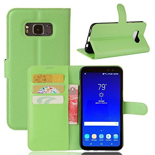 Funda Samsung Galaxy S8 Active,Manyip Caja del teléfono del cuero,Protector de Pantalla de Slim Case Estilo Billetera con Ranuras para Tarjetas, Soporte Plegable, Cierre Magnético(JFC8-22) F