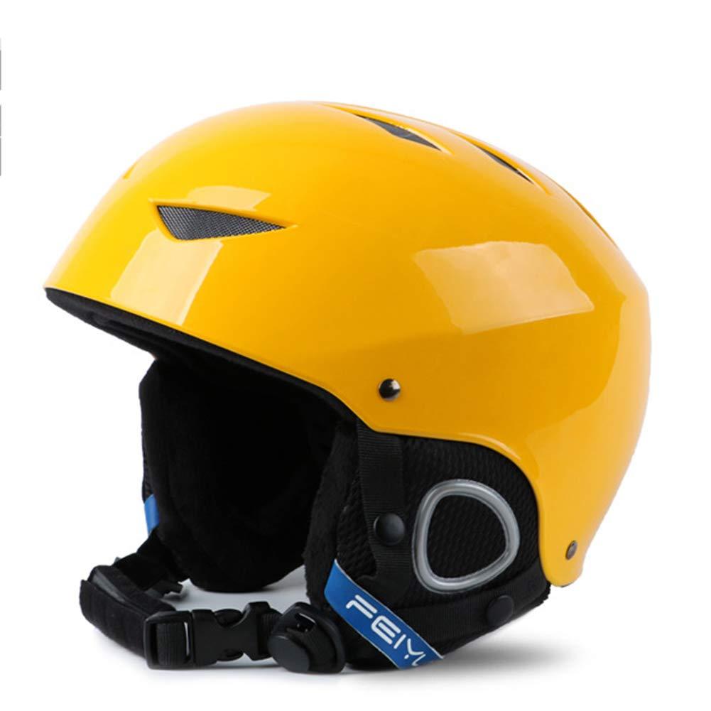 TOOSD Skihelm, Einstellbare Furnier Doppel Snowboard Helm Wettbewerb Version Winter Männer Und Frauen Erwachsene Kinder Helm Schutzausrüstung,A,M
