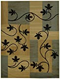 Maxy Home Pasha Leaf Boxes Multicolor 7 ft. 10 in. x 10 ft. 6 in. Area Rug
