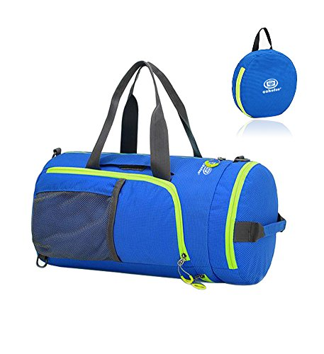 EchoFun Waterproof Nylon Duffel Bag Foldable Travel Luggage Barrel Gym Bag Holdall Sports Drybag Packable Backpack Shoulder Rucksack (blue) For Sale