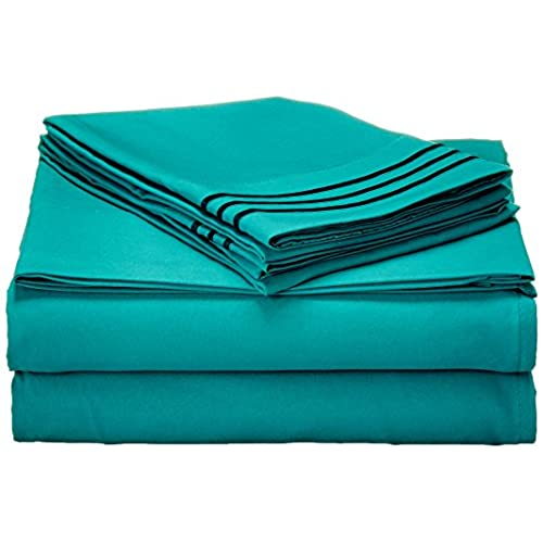 Amazing Elegant Comfort1500 Thread Count Wrinkle,Fade And Stain Resistant 4 Piece Bed  Sheet Set, Deep Pocket, HypoAllergenic   Queen Turquoise