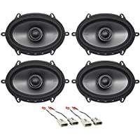 Polk 5x7 Front+Rear Factory Speaker Replacement Kit For 1997-1998 Ford F-150
