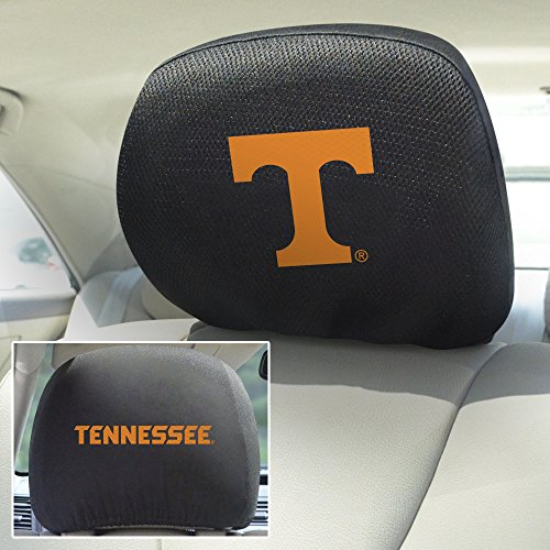 Headrest Covers Ncaa (FANMATS  12594  NCAA University of Tennessee Volunteers Polyester Head Rest Cover)