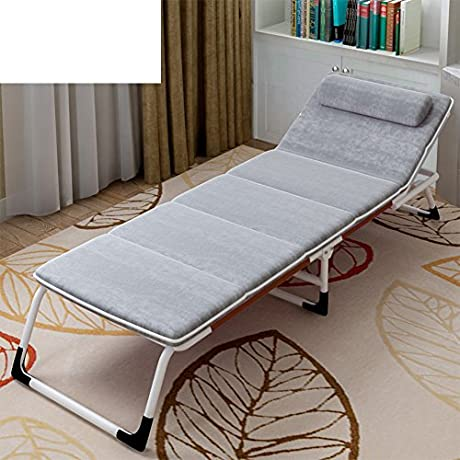 Folding Bed Single Bed Nap Bed Office Chair Bed Rest Simple Escort Bed Camp Bed Couch E