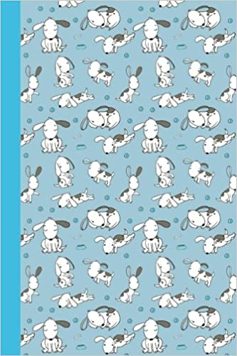 Journal: Puppy Life (Blue) 6x9 (Diary, Notebook) (Dogs)