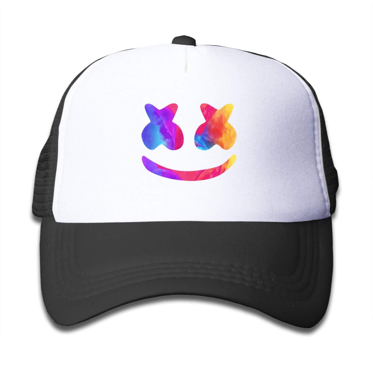 Aiw Wfdnn Marshmello Helmet Mesh Baseball Hat Kid's Adjustable