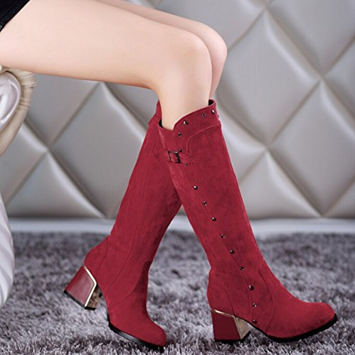 shoes fashion Martin knight boots boots trend New boots Red Nubuck TqwOq6