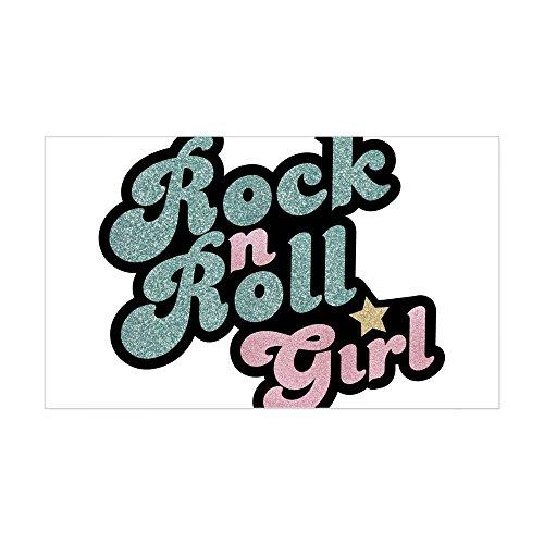 CafePress Rock N Roll Girl Sticker Rectangle Bumper Sticker Car Decal -
