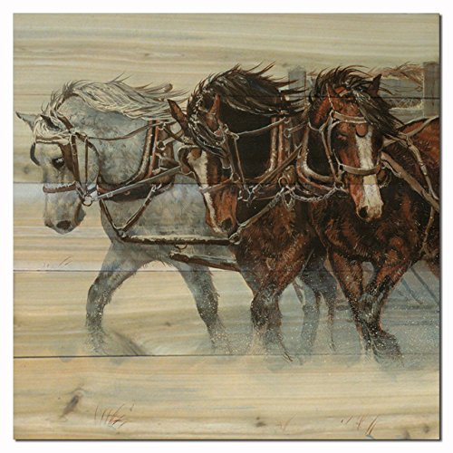 WGI Gallery WA-WWH-1212 Winter Wind Horses Wall Art