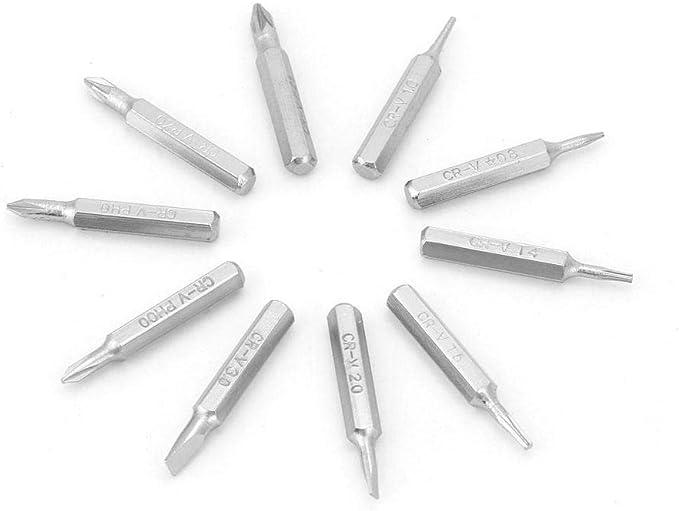 Shaoge 10pcs 28mm Magnetic CR-V Precision Screwdriver Bit Set PH00 PH0 Z1 Z0 3.0 2.0 1.0 T5 T4 0.8 Multifunctional Hex Torx Head Repair Tool