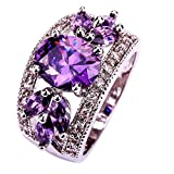 Best Alloy Rings - YAZILIND Wedding Band Bridal Jewelry Ring Alloy CZ Review