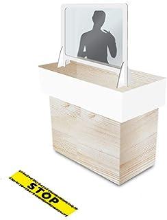 Mampara Protectora Anti Contagio Cristal Templado de 4mm: Amazon.es: Oficina y papelería