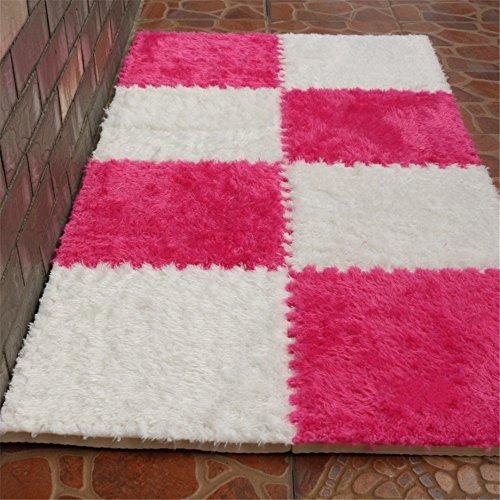 Carpet Interlocking Floor Tiles - Plush Carpet Area Rug - Puzzle Floor Mat - Interlocking Carpet Tiles, Thick, Non Toxic, Anti-Fatigue, Fluffy,Premium Foam Mat by Meng Ge (Image #5)