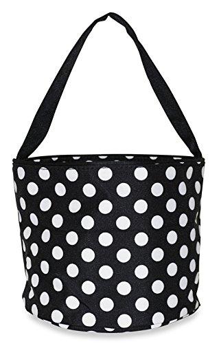 Ever Moda Caddy Basket Organizer (Black Polka Dot) -