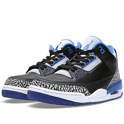 Nike Mens Air Jordan 3 Retro Leather Basketball Shoes