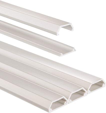 Hama Selbstklebender Kabelkanal Weiß 3x Kunstoffleiste 1 Meter Länge Für 3 Kabel Eckige Pvc Kabelabdeckung Baumarkt