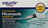 Equate - Miconazole 3 Day Treatment, Disposable Suppositories Plus Cream, 0.32 oz