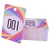 FaCraft Live Number 1-100 Reusable Normal and Reverse Mirror Hanger Cards
