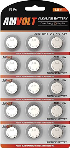 15 Pack LR44 AG13 Battery - [ULTRA POWER] Premium Alkaline 1.5 Volt Non Rechargeable Round Button Cell Batteries for Watches Clocks Remotes Games Controllers Toys & Electronic Devices - 2020 Exp Date
