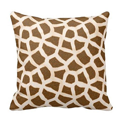 Giraffe Fur Pattern Decorator Accent Pillow Case 18*18 (Giraffe Pillow Fur)