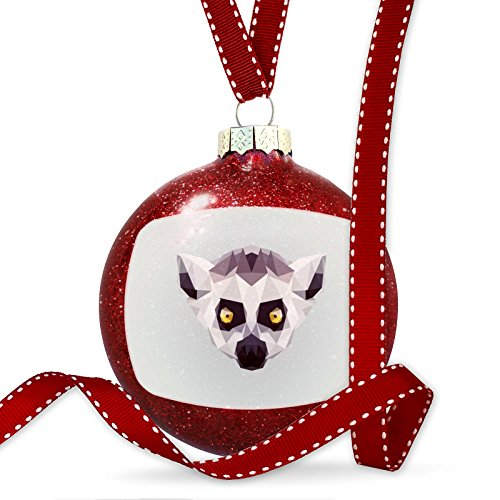 Christmas Decoration Low Poly Animals Modern design Ring-tailed Lemur Ornament by NEONBLOND