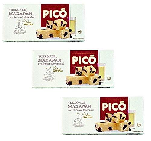 Picó - Pack incluye 3 Turron de mazapán con pasas al moscatel - Turron blando - Calidad suprema - 200gr: Amazon.es: Alimentación y bebidas