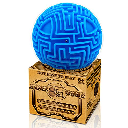 Amaze 3D Gravity Memory Sequential Maze Ball Puzzle Toy Gifts for Kids Adults - Hard Challenges Game Lover Tiny Balls Brain Teasers Game