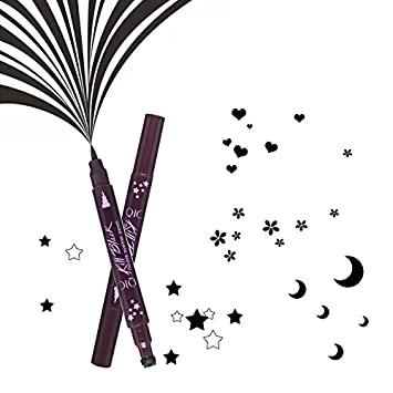 Popfeel - Lápiz de doble cabeza, color negro, diseño de estrella ...