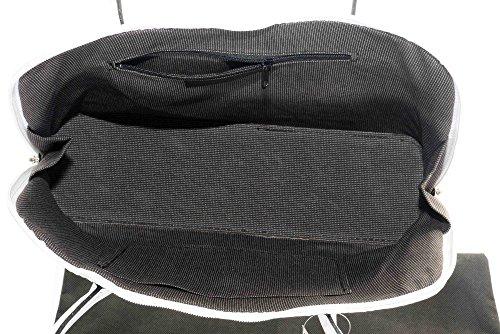 Primo Sacchi italien main en cuir lisse fait de style classique à long manche sac à main cabas Grab ou sac à bandoulière. Comprend un sac de rangement de protection de marque Blanc