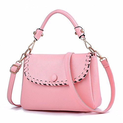 Woven Pure Bolso Moda Las Pink Fad Gqfgyyl azul Color De Señoras PwEZn