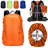 ZM-SPORTS 15-90L Upgraded Waterproof Backpack Rain Cover,with Vertical Adjustable Fixed Strap Avoid to Falling,Gift with Portable Storage Pack (Orange, M(for 30-40L Backpack)
