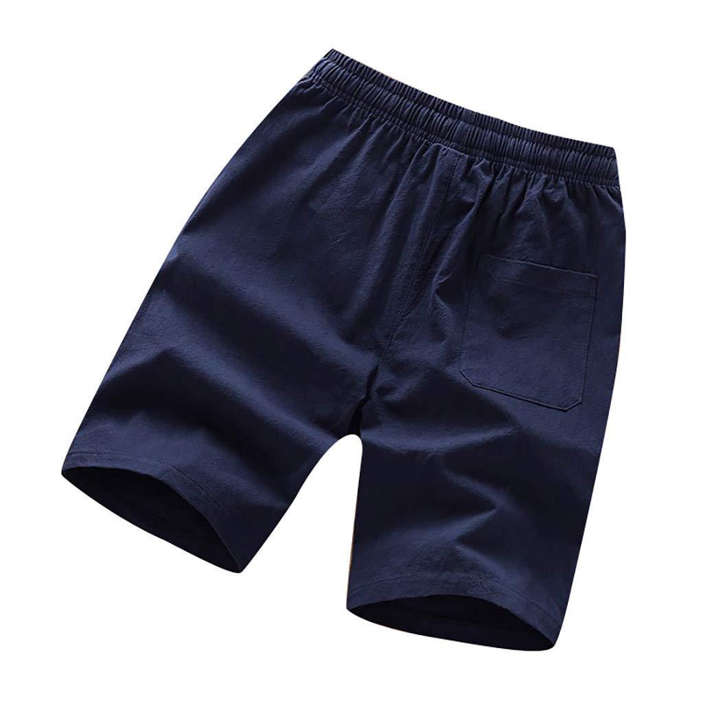 LuckyGirls Hombres Pantalones de Casual Color Sólido Deportivas ...