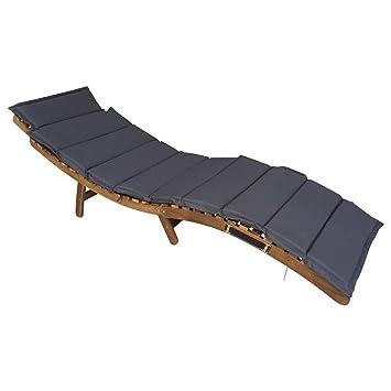 Amazon.de: OUTLIV. Sonnenliege Holz klappbar Deluxe Gartenliege ...
