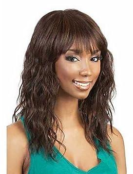 XH@G venta caliente señora de las mujeres marrones pelucas onda color de pelo sintéticos