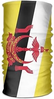 longkouishilong Couvre-Chef Flag of Brunei Unisex Outdoor Sport Scarf Headbands Bandana Mask Neck Gaiter Head Wrap Sweatband Headwear